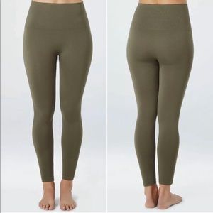 Spanx Green Seamless Look At Me Cropped Legging XL